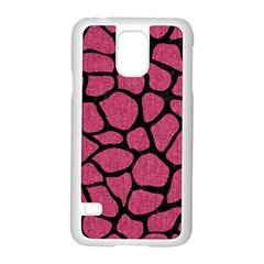Skin1 Black Marble & Pink Denim (r) Samsung Galaxy S5 Case (white) by trendistuff