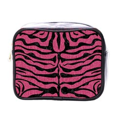 Skin2 Black Marble & Pink Denim Mini Toiletries Bags by trendistuff