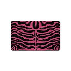 Skin2 Black Marble & Pink Denim (r) Magnet (name Card) by trendistuff