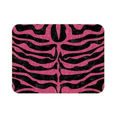 Skin2 Black Marble & Pink Denim (r) Double Sided Flano Blanket (mini)  by trendistuff