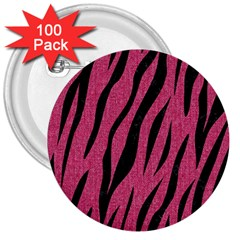 Skin3 Black Marble & Pink Denim 3  Buttons (100 Pack)  by trendistuff