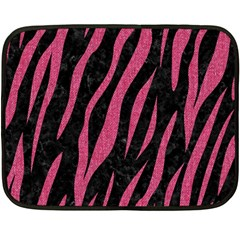 Skin3 Black Marble & Pink Denim (r) Fleece Blanket (mini) by trendistuff
