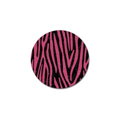 Skin4 Black Marble & Pink Denim Golf Ball Marker by trendistuff