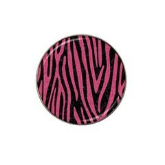 Skin4 Black Marble & Pink Denim Hat Clip Ball Marker by trendistuff