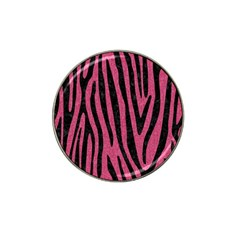 Skin4 Black Marble & Pink Denim (r) Hat Clip Ball Marker (4 Pack) by trendistuff