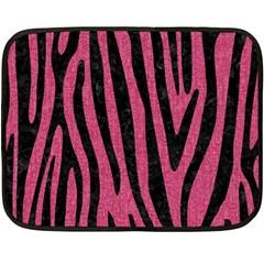 Skin4 Black Marble & Pink Denim (r) Fleece Blanket (mini) by trendistuff