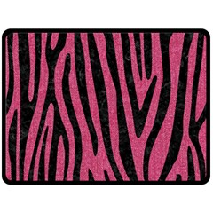 Skin4 Black Marble & Pink Denim (r) Fleece Blanket (large)  by trendistuff