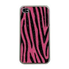 Skin4 Black Marble & Pink Denim (r) Apple Iphone 4 Case (clear) by trendistuff