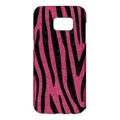 Skin4 Black Marble & Pink Denim (r) Samsung Galaxy S7 Edge Hardshell Case by trendistuff