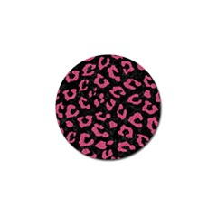 Skin5 Black Marble & Pink Denim Golf Ball Marker (10 Pack) by trendistuff