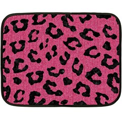 Skin5 Black Marble & Pink Denim (r) Double Sided Fleece Blanket (mini)  by trendistuff