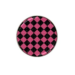 Square2 Black Marble & Pink Denim Hat Clip Ball Marker (4 Pack) by trendistuff