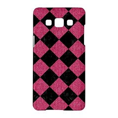 Square2 Black Marble & Pink Denim Samsung Galaxy A5 Hardshell Case  by trendistuff