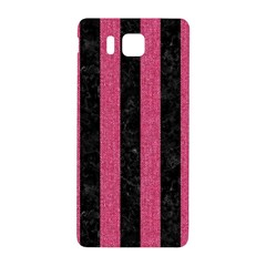 Stripes1 Black Marble & Pink Denim Samsung Galaxy Alpha Hardshell Back Case by trendistuff