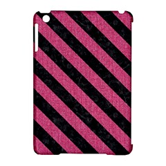 Stripes3 Black Marble & Pink Denim Apple Ipad Mini Hardshell Case (compatible With Smart Cover) by trendistuff