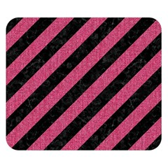 Stripes3 Black Marble & Pink Denim (r) Double Sided Flano Blanket (small)  by trendistuff
