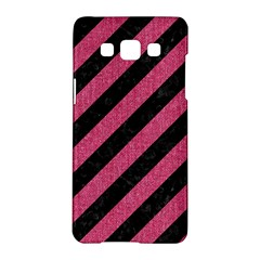 Stripes3 Black Marble & Pink Denim (r) Samsung Galaxy A5 Hardshell Case  by trendistuff