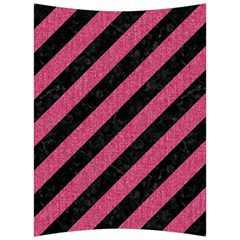 Stripes3 Black Marble & Pink Denim (r) Back Support Cushion by trendistuff