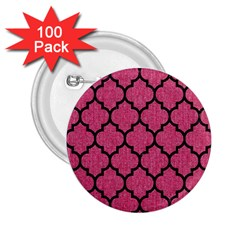 Tile1 Black Marble & Pink Denim 2 25  Buttons (100 Pack)  by trendistuff