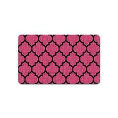 Tile1 Black Marble & Pink Denim Magnet (name Card) by trendistuff
