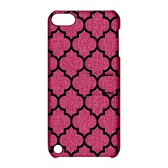 Tile1 Black Marble & Pink Denim Apple Ipod Touch 5 Hardshell Case With Stand by trendistuff