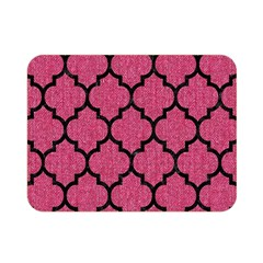 Tile1 Black Marble & Pink Denim Double Sided Flano Blanket (mini)  by trendistuff