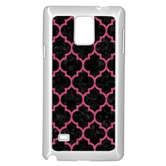 Tile1 Black Marble & Pink Denim (r) Samsung Galaxy Note 4 Case (white) by trendistuff