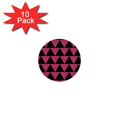 Triangle2 Black Marble & Pink Denim 1  Mini Buttons (10 Pack)  by trendistuff