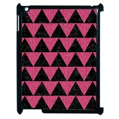Triangle2 Black Marble & Pink Denim Apple Ipad 2 Case (black) by trendistuff