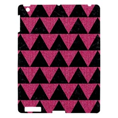 Triangle2 Black Marble & Pink Denim Apple Ipad 3/4 Hardshell Case by trendistuff