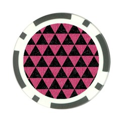 Triangle3 Black Marble & Pink Denim Poker Chip Card Guard (10 Pack) by trendistuff
