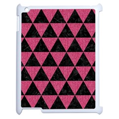 Triangle3 Black Marble & Pink Denim Apple Ipad 2 Case (white) by trendistuff