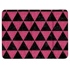 Triangle3 Black Marble & Pink Denim Samsung Galaxy Tab 7  P1000 Flip Case by trendistuff