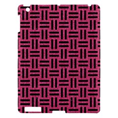 Woven1 Black Marble & Pink Denim Apple Ipad 3/4 Hardshell Case by trendistuff