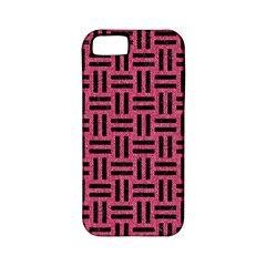 Woven1 Black Marble & Pink Denim Apple Iphone 5 Classic Hardshell Case (pc+silicone) by trendistuff