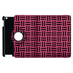 Woven1 Black Marble & Pink Denim Apple Ipad 3/4 Flip 360 Case by trendistuff