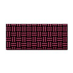 Woven1 Black Marble & Pink Denim (r) Cosmetic Storage Cases by trendistuff