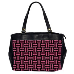Woven1 Black Marble & Pink Denim (r) Office Handbags (2 Sides)  by trendistuff