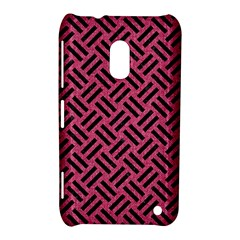 Woven2 Black Marble & Pink Denim Nokia Lumia 620 by trendistuff