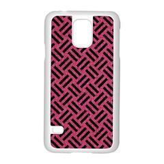 Woven2 Black Marble & Pink Denim Samsung Galaxy S5 Case (white) by trendistuff
