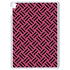 Woven2 Black Marble & Pink Denim Apple Ipad Pro 9 7   White Seamless Case by trendistuff
