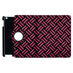 Woven2 Black Marble & Pink Denim (r) Apple Ipad 2 Flip 360 Case by trendistuff