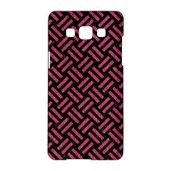 Woven2 Black Marble & Pink Denim (r) Samsung Galaxy A5 Hardshell Case  by trendistuff