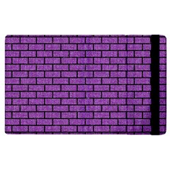 Brick1 Black Marble & Purple Denim Apple Ipad 2 Flip Case by trendistuff