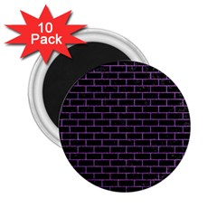 Brick1 Black Marble & Purple Denim (r) 2 25  Magnets (10 Pack)  by trendistuff