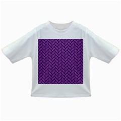 Brick2 Black Marble & Purple Denim Infant/toddler T Shirts by trendistuff