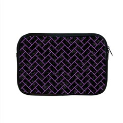 Brick2 Black Marble & Purple Denim (r) Apple Macbook Pro 15  Zipper Case by trendistuff
