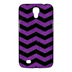 Chevron3 Black Marble & Purple Denim Samsung Galaxy Mega 6 3  I9200 Hardshell Case by trendistuff