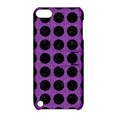 Circles1 Black Marble & Purple Denim Apple Ipod Touch 5 Hardshell Case With Stand by trendistuff