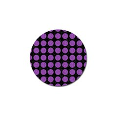 Circles1 Black Marble & Purple Denim (r) Golf Ball Marker (4 Pack) by trendistuff